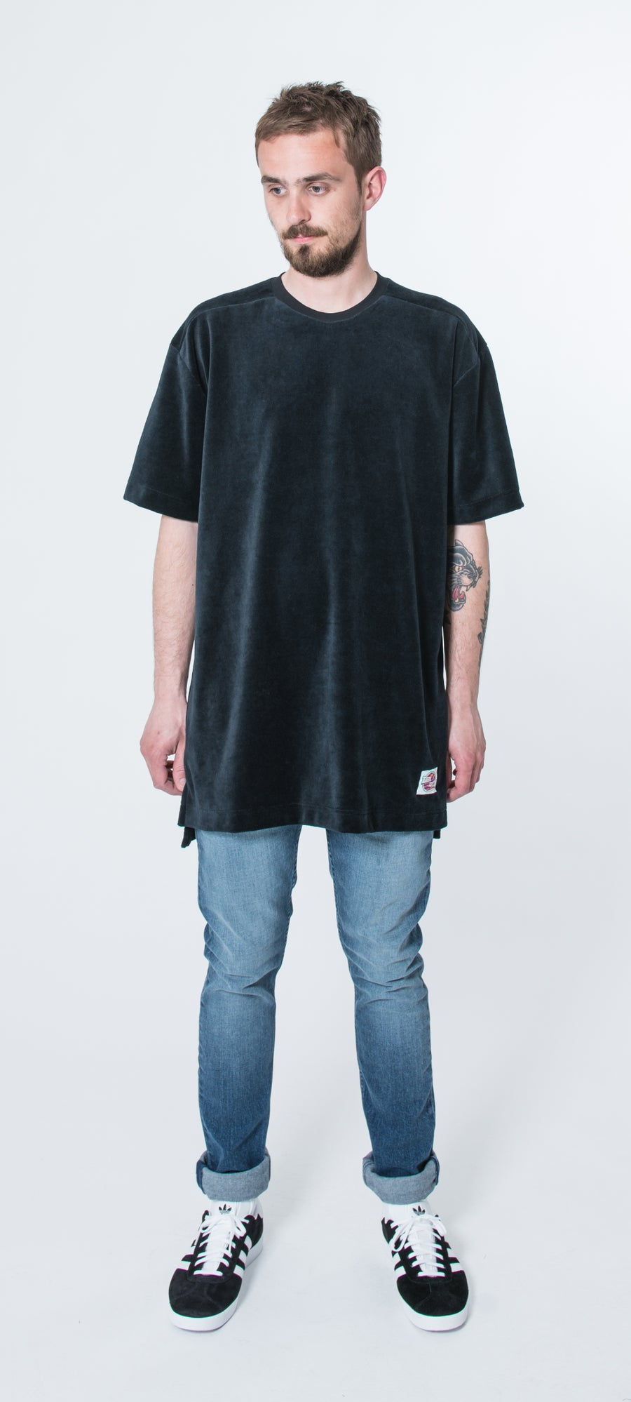 Image of The Jam Tee (Black velvet)
