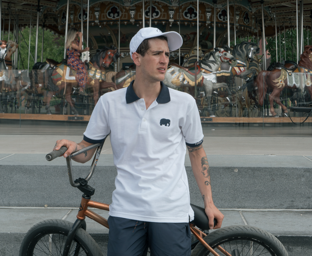 Image of Elephant Polo Short Sleeve (White)