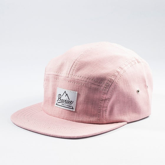 Image of Preview Linen Camp cap, pink