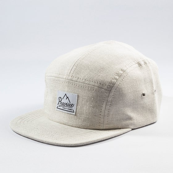 Image of Preview Linen Camp cap, natural