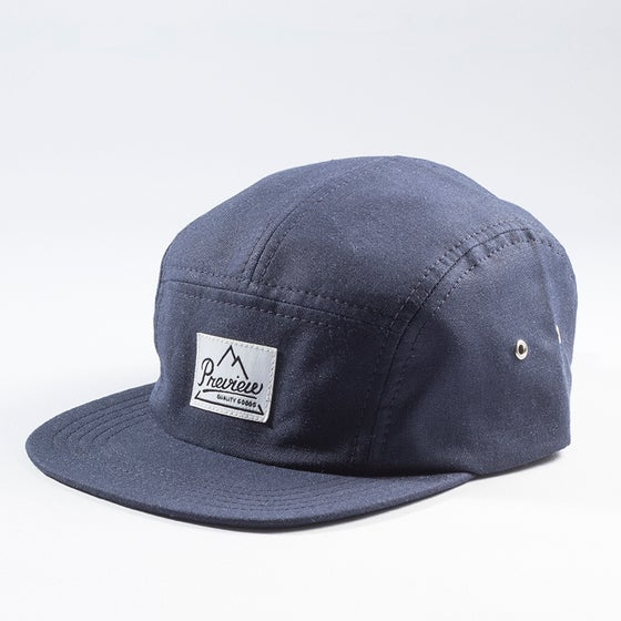 Image of Preview Linen Camp cap, navy