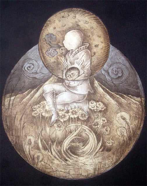 "Image of ""Master of Reality"" Original Etching"