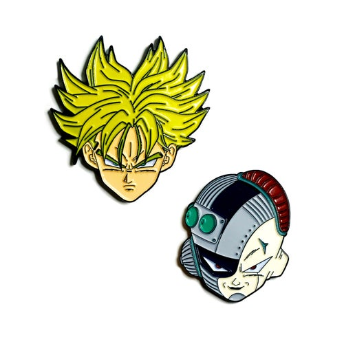 Image of iScreamPins X Pinvader Assassin from the Future Collab Pin Pack