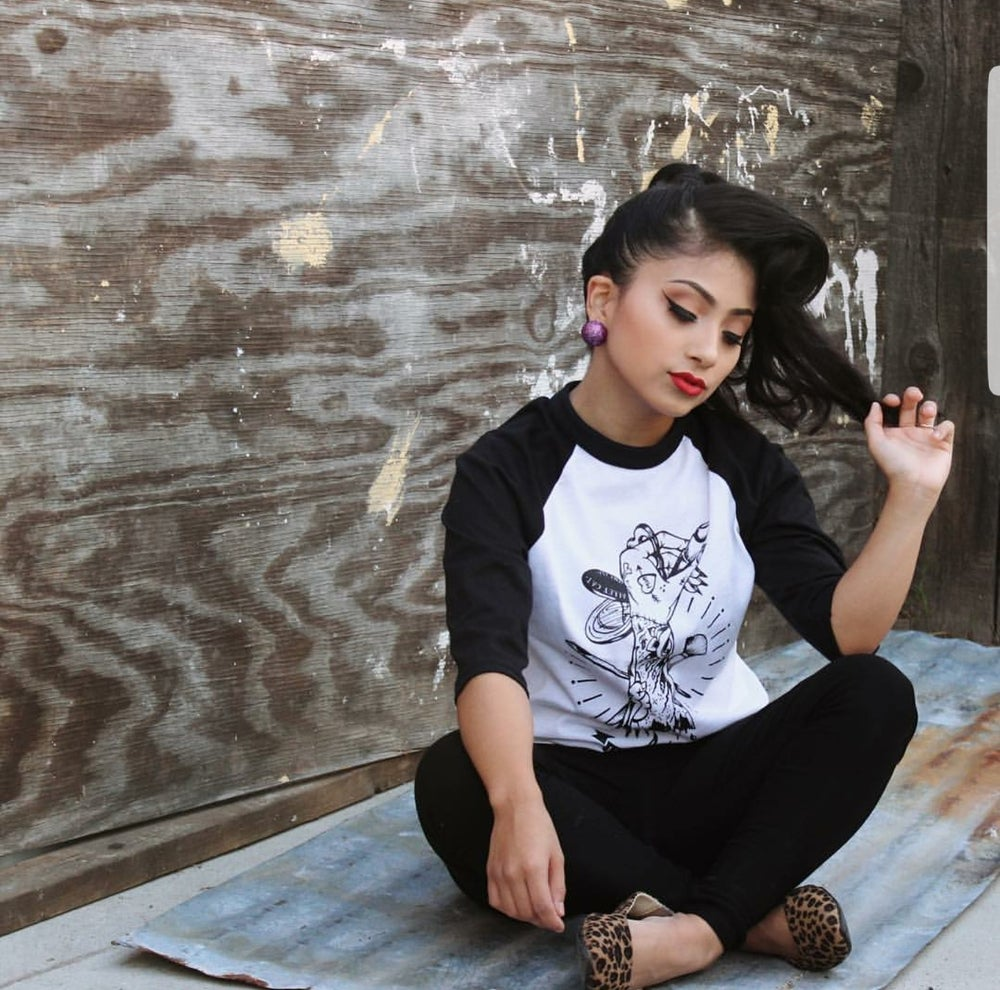 Image of Lips to Die For unisex baseball tee