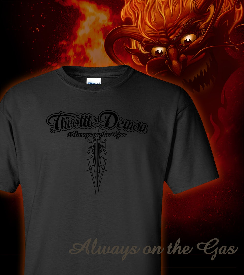 Image of Throttle Demon logo Charcoal