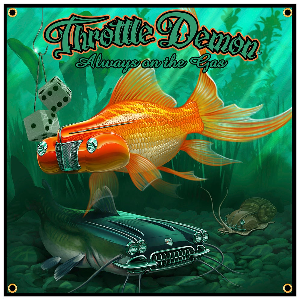 Image of Fish Pond garage banner