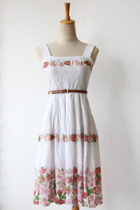 Image of SOLD Spring Fling Eyelet Cotton Dress