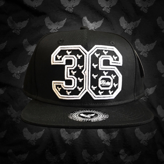 Image of Black/White 36 3D Embroidered Snapback