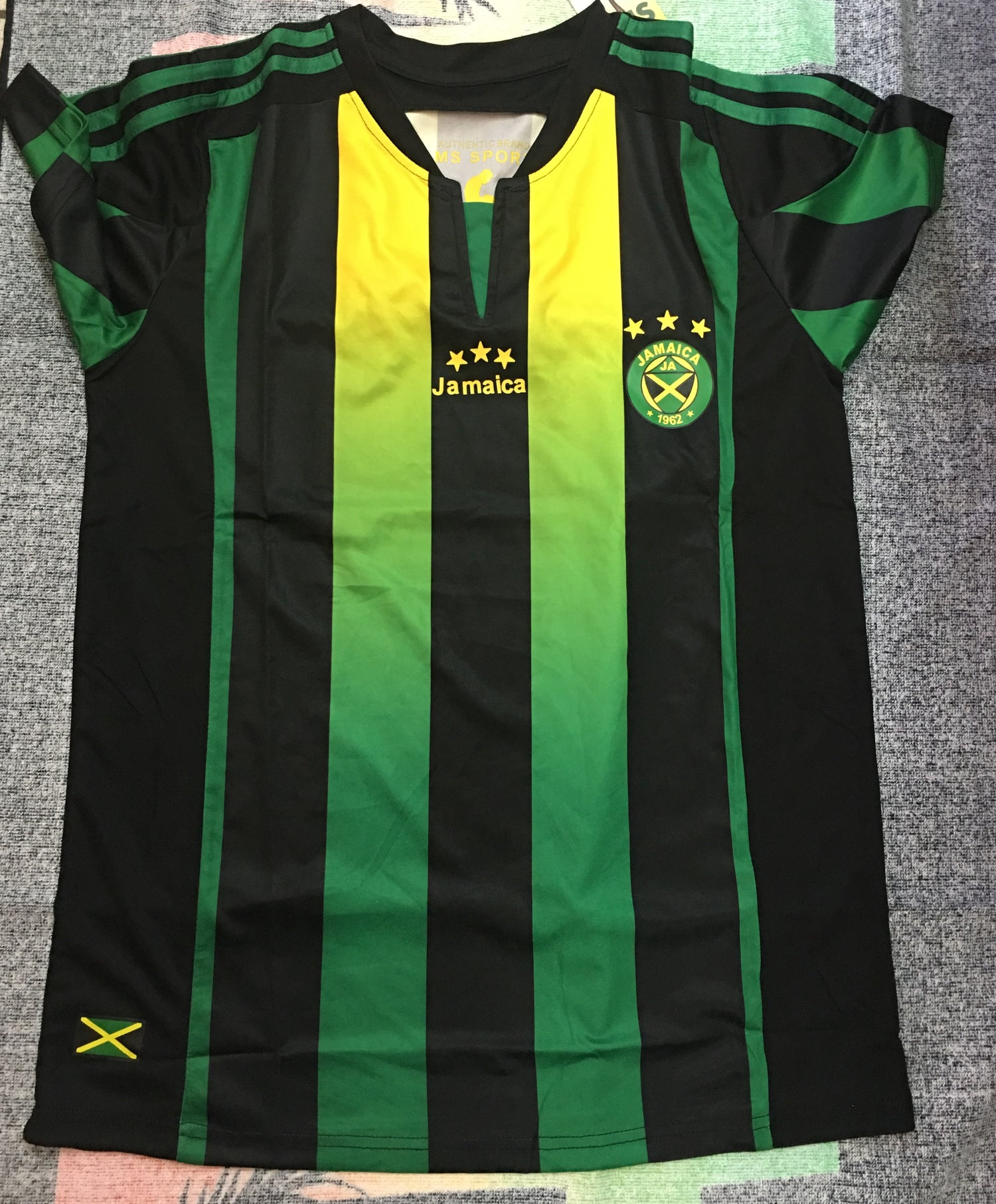 97cffeff750 Image of Black Jamaica Football Jersey