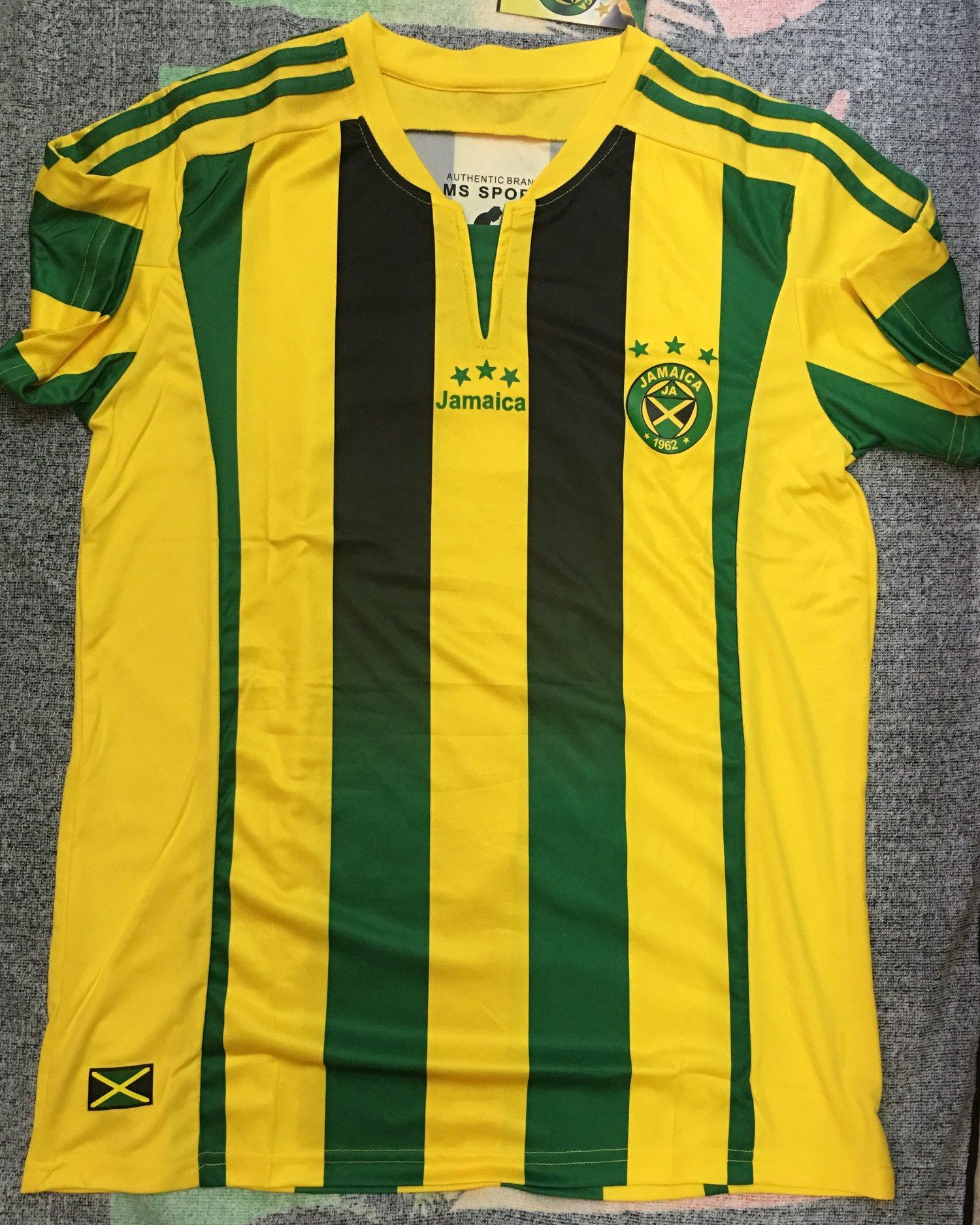 a72b4cb0c34 Image of Yellow Jamaica Football Jersey