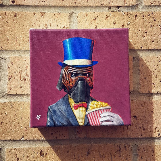"Image of Kylo Gent acrylic on 6x6"" deep box canvas"