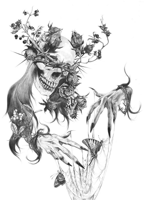 """Image of Tristeza Giclée Print 18"""" x 24"""" hand embellished"""