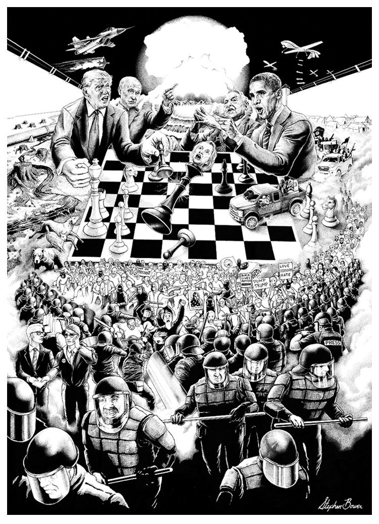 Image of Stephen Bower 'The Grand Chessboard' Giclée print