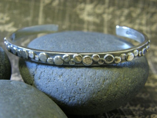 "Image of ""I will Travel down the Path of my Dreams"" Sterling Bracelet"