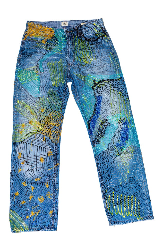 Image of Cat Stevens' Jeans for Refugees