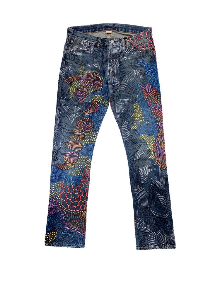Image of Jane Birkin's Jeans for Refugees