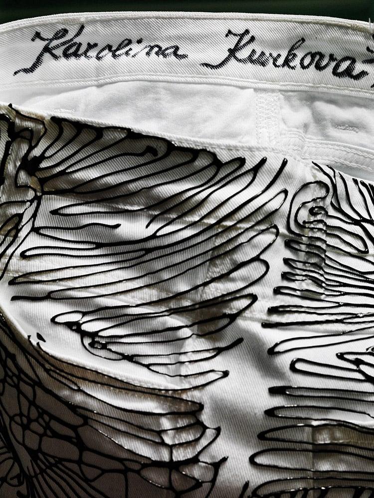 Image of Karolina Kurkova's Jeans for Refugees