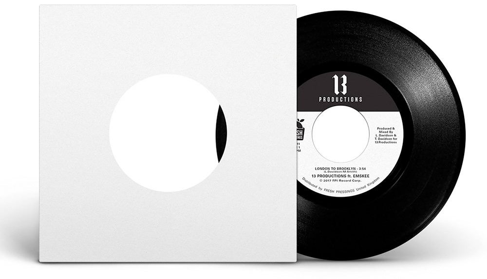 "Image of 13 Productions ft Emskee 'London To Brooklyn' 7"" (FPI011)"