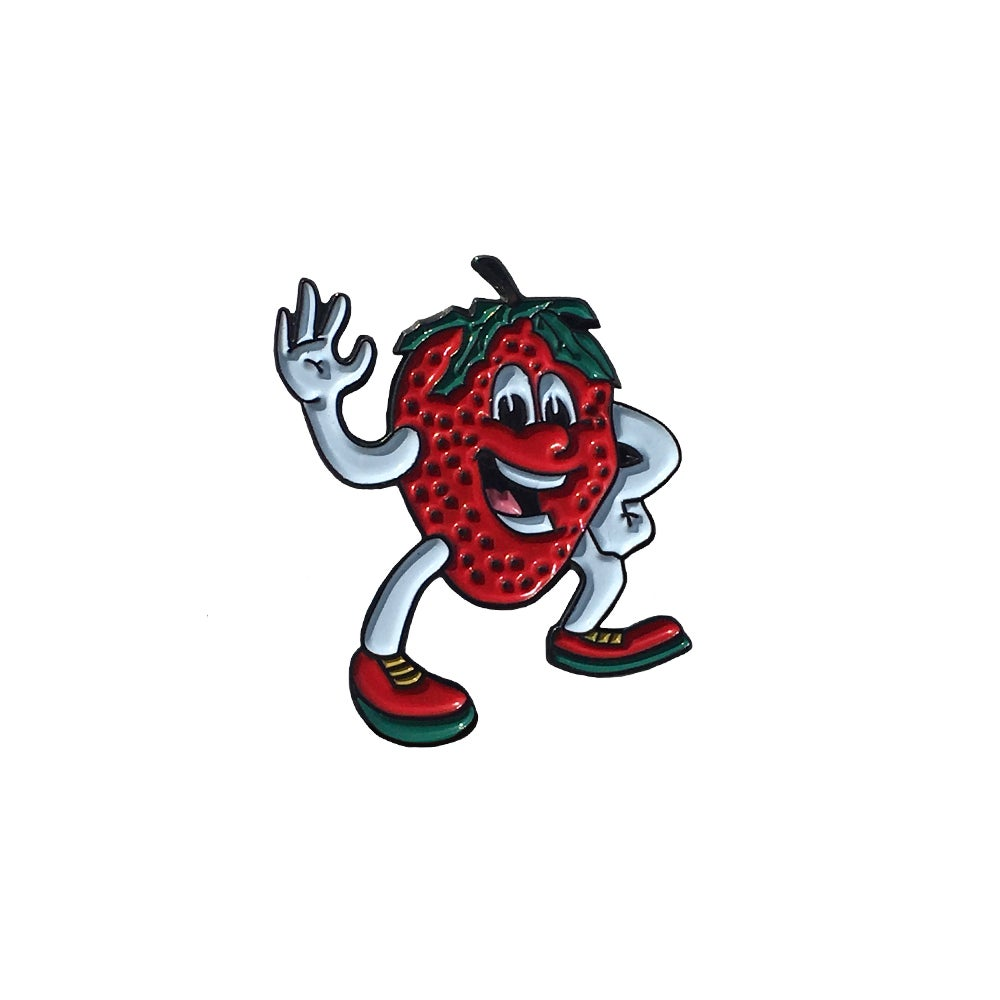 Image of FOOD DOODZ Strawberry Lapel Pin