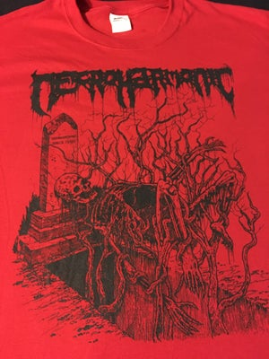"Image of Necroharmonic "" Underground since 1990 "" Red T shirt"