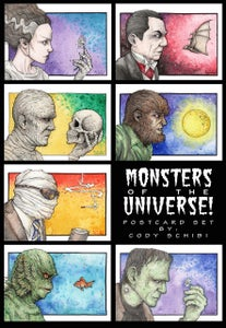 Image of MONSTERS OF THE UNIVERSE complete set or Individual Prints!