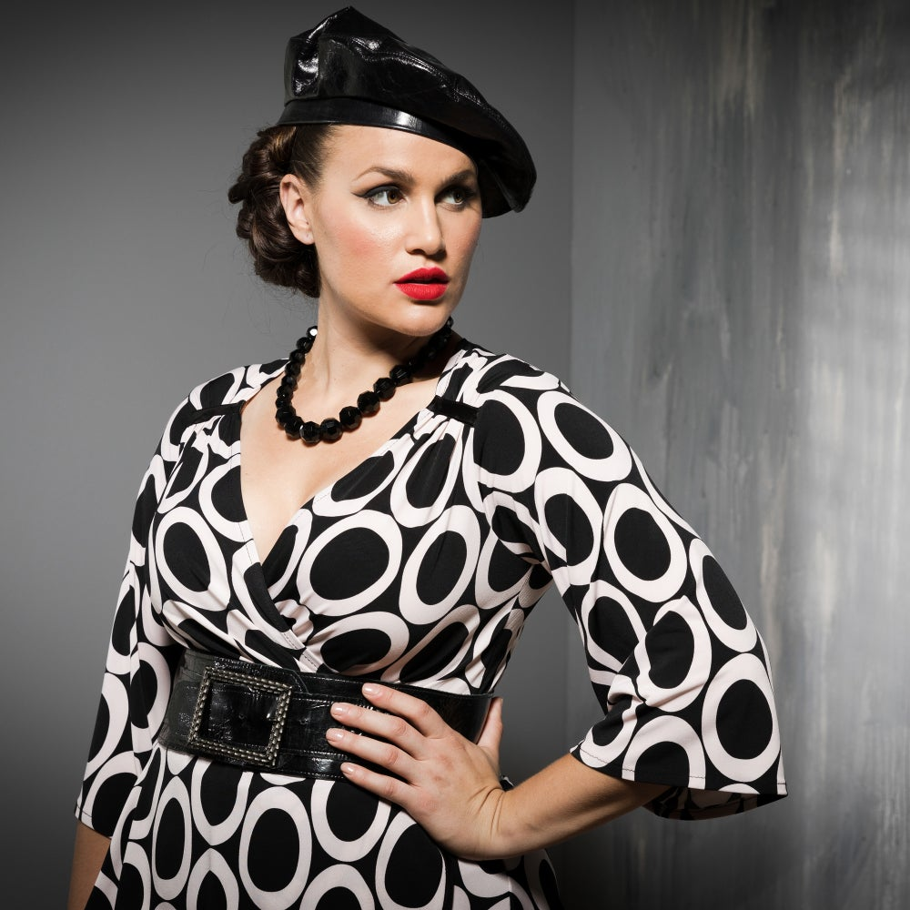 Image of CORA FAUX WRAP TOP...
