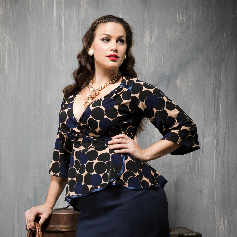 Image of CORA FAUX WRAP TOP