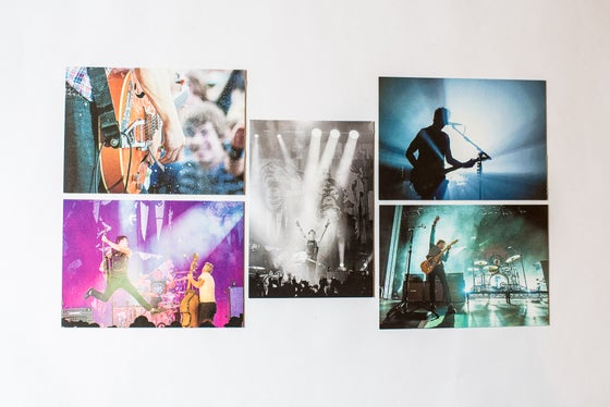 Image of The Living End postcard set x 5