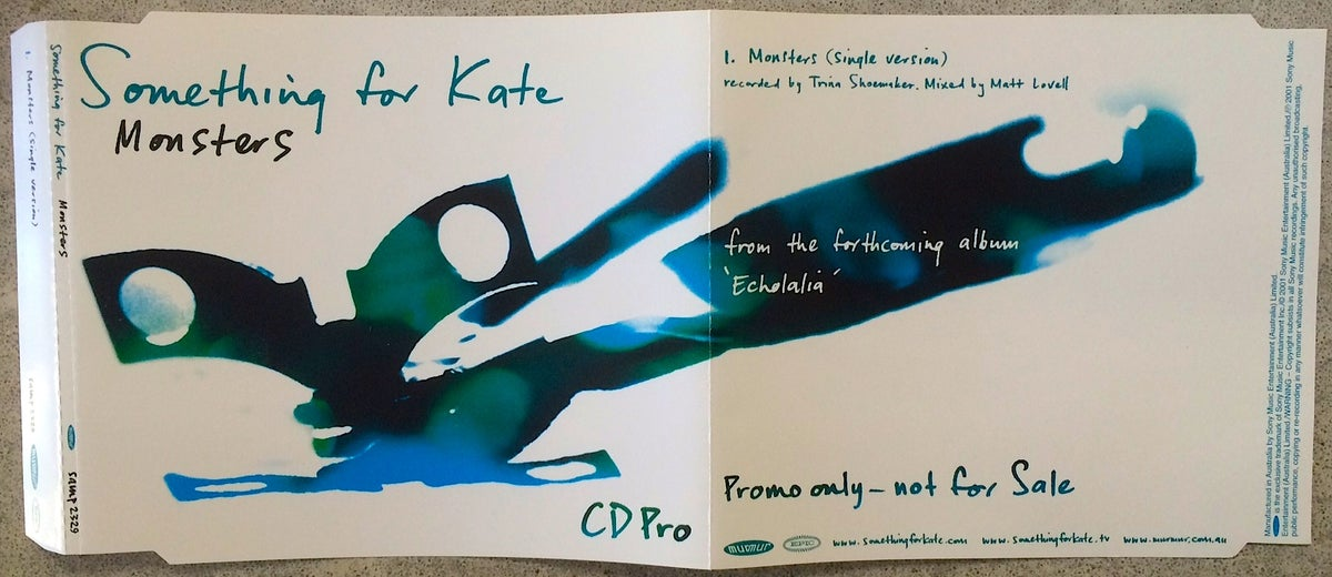 Image of Something for Kate - 'Monsters' CD Pro 2001