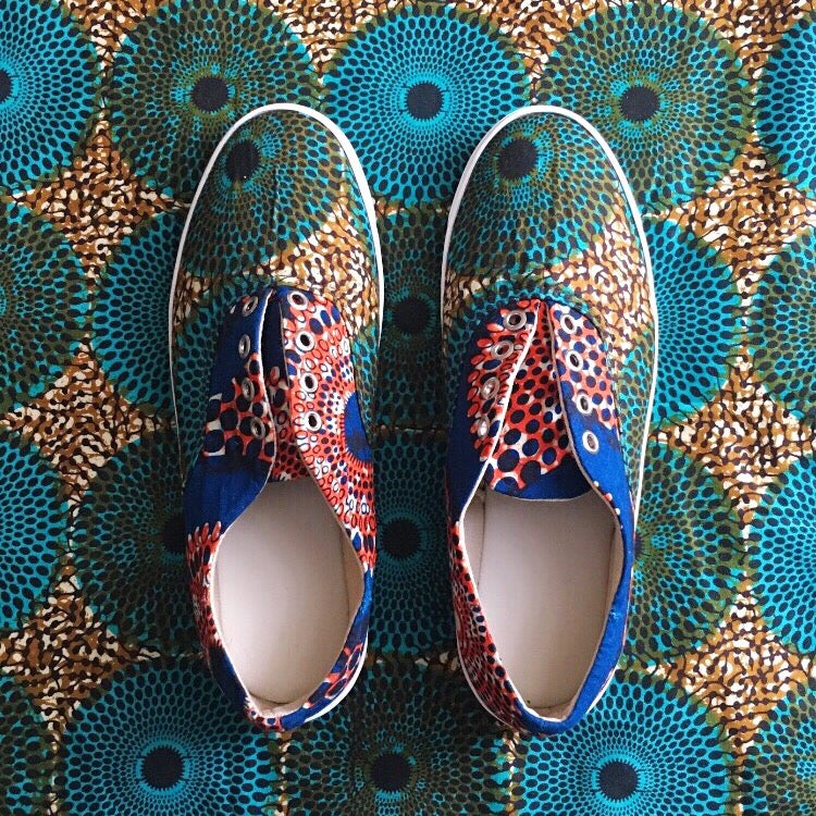 Image of •Meji• Wax Print Sneakers