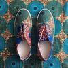 •Meji• Wax Print Sneakers