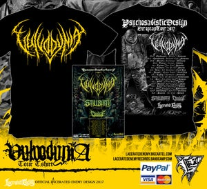 Image of VULVODYNIA - Tour Shirt - Yellow logo + TOUR POSTER