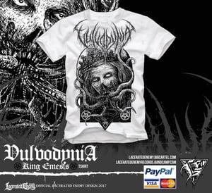 Image of VULVODYNIA - King Emesis - Dark Grey logo