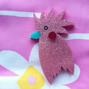 Image of Ken The Cocky Brooch (THREE COLOURS!)