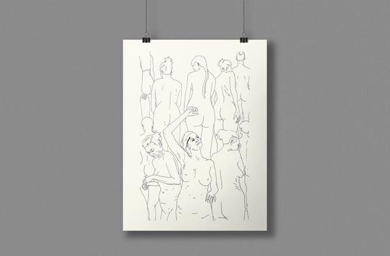Image of Naked Ladies, original ink