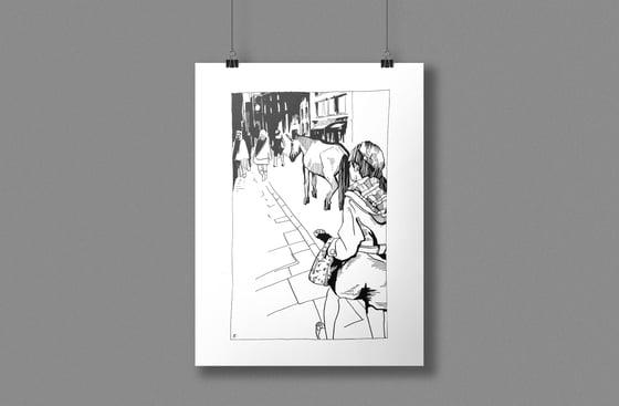 Image of Follow the Unicorn, original ink