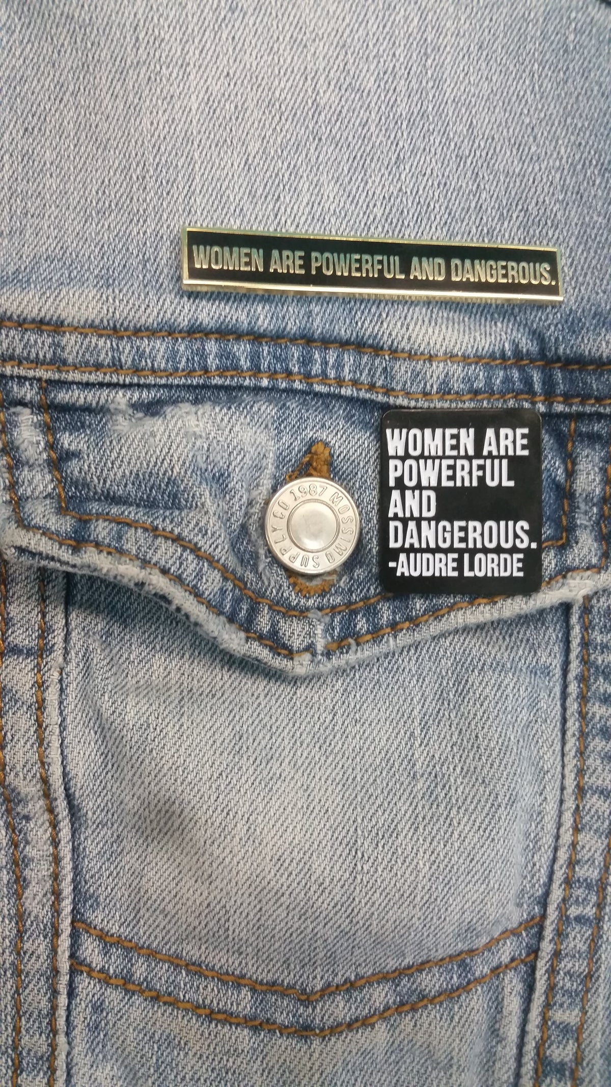 Image of Women Are Powerful and Dangerous Enamel Pin