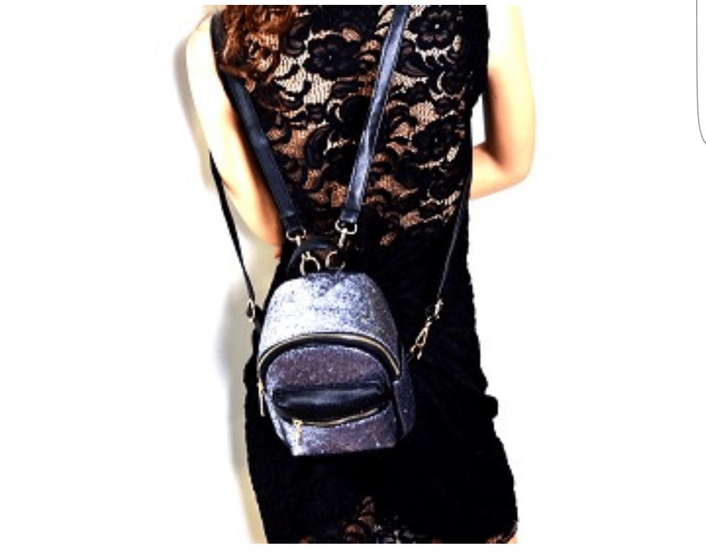 Image of Pink Glittery Mini Backpack