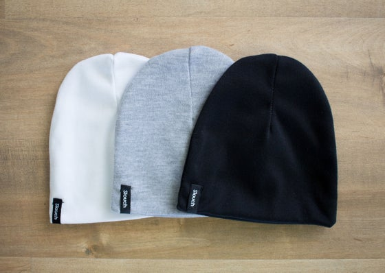 Image of Slouch Beanie Bundle - White, Gray, Black