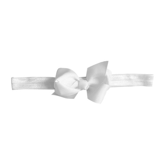 Image of White Baby Bow Headband