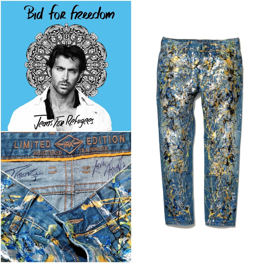 Image of Hrithik Roshian's Jeans for Refugees