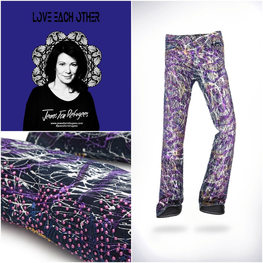 Image of Iris Berben's Jeans for Refugees