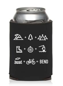 Image of Bend Oregon Equation Beer Can Cooler