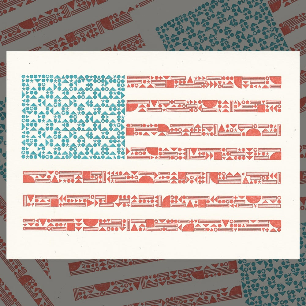 Image of American Flag Card