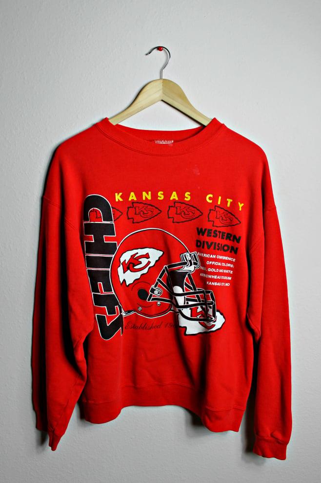 Image of 80's Kansas City Chiefs Sweatshirt