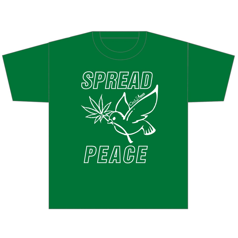 Image of Spread Peace Kelly Green Shirt