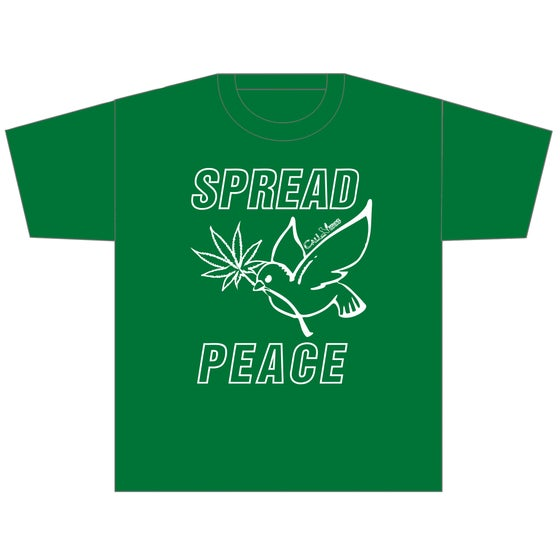 Image of SPREAD PEACE - KELLY GREEN SHIRT