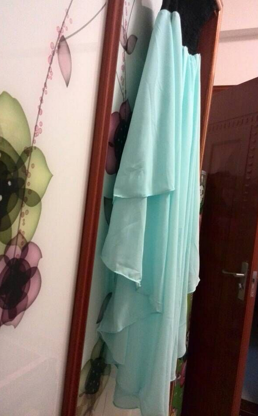 Image of HOT STRAPLESS MINT GREEN DRESS HIGH QUALITY