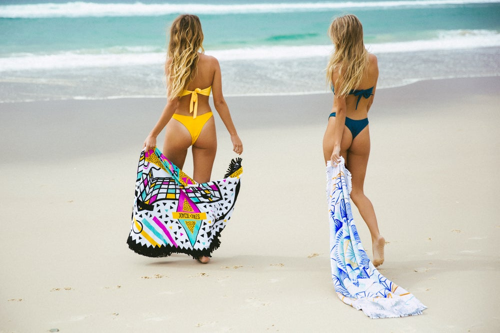 "Image of ""SUMMER J PACK""  TWO ROUND TOWELS"