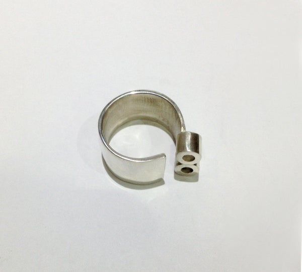 Image of Sterling Silver Ring Tubes